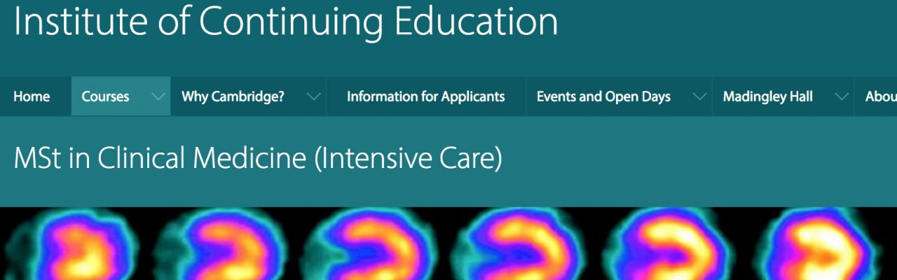 Masters in ICM | Cambridge Critical Care